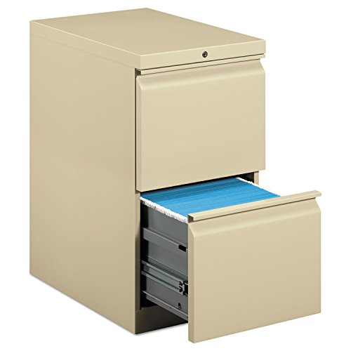 (HON Brigade Standard Height Pedestal - 15quot; x 22.9quot; x 28quot; - 2 x File Drawer(s) - Security Lock - Putty )