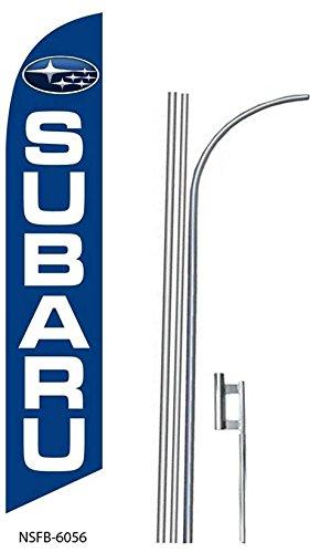 (3) three SUBARU 15' Swooper #8 Feather Flags KIT
