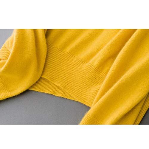 Donna color Size Femminile Confortevoli Maniche Lunghe Maglioni Di Felicigg Tessuti Yellow A Per L Ol Cachemire Yellow Maglia AwOISxgq