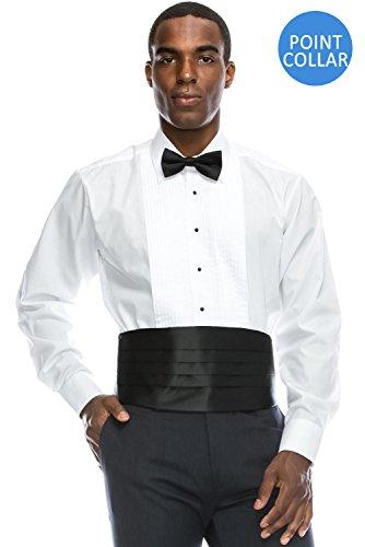 Spread Collar Tuxedo (Spread Collar Formal Dress Shirt Pleated Tuxedo Shirt (XL), 17-17.5N-36/37S)
