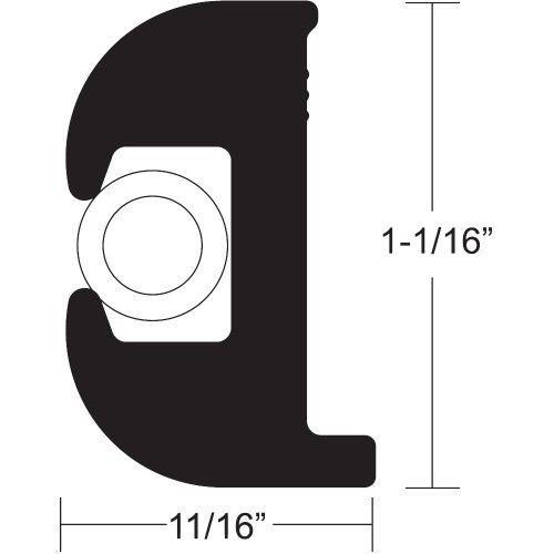 (Taco VINYL RUB RAIL, BLK/WHT 50' V11-0809BWK50-2 (Image for Reference) by Taco)