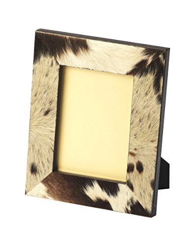 Offex Modern Rectangular Hair-on-Hide Picture Frame Cowhide Picture Frame
