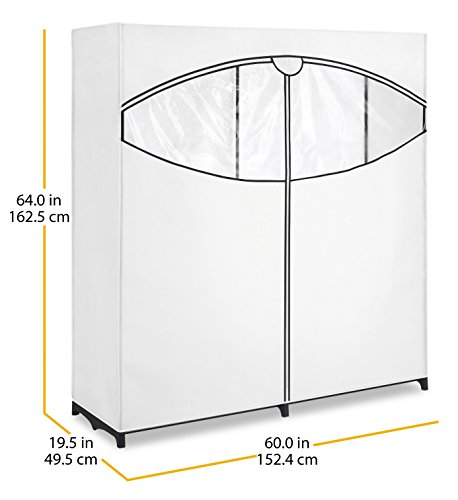 Whitmor Extra Wide Portable Clothes Closet, White by Whitmor (Image #5)