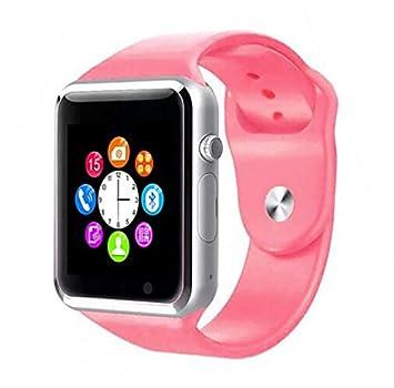 WMWMY Vea Reloj Bluetooth Smart Sports Podómetro con Reloj Inteligente Tarjeta SIM Cámara para Smartphone Android,Rosa: Amazon.es: Electrónica