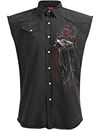 Spiral - LEGEND OF THE WOLVES - Sleeveless Stone Washed Worker Plus Size