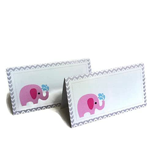 Adorebynat Party Decorations - EU Elefante rosado tarjetas ...