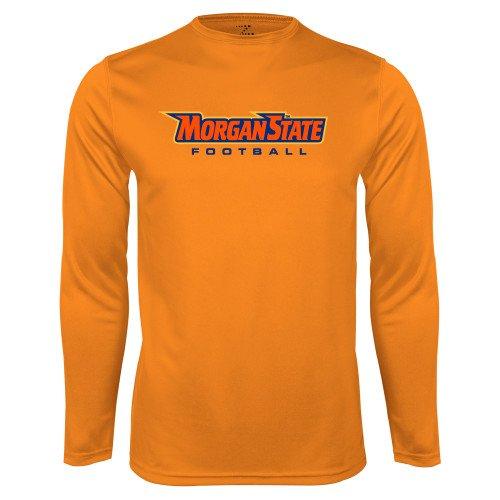 CollegeFanGear Morgan State Performance Orange Longsleeve Shirt Football