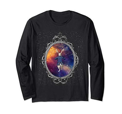 Follow The White Rabbit - Alice In Wonderland T Shirt Design Long Sleeve T-Shirt