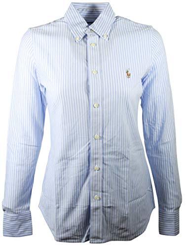 Polo Ralph Lauren Womens Classic Fit Oxford Button Down Shirt, Blue/White, - Shirt Womens Fit Classic