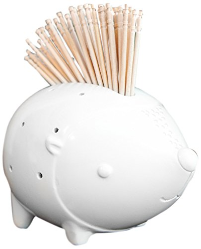 Talisman Designs Party Animal Toothpick Holder, White by Talisman Designs