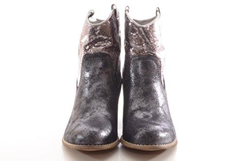 Damenstiefel Cowboy Boots Party Glitzer Mizan Black 765213 GA Black