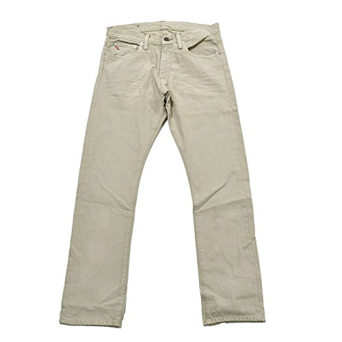 Polo Ralph Lauren Mens Slim Straight 018 Jeans (32x34, Bone)
