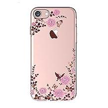 Qissy iPhone 6sPlus 6Plus Case Cute cartoon animal flower rose Clear Design Transparent TPU Cover (not for iPhone6 / 6s!)