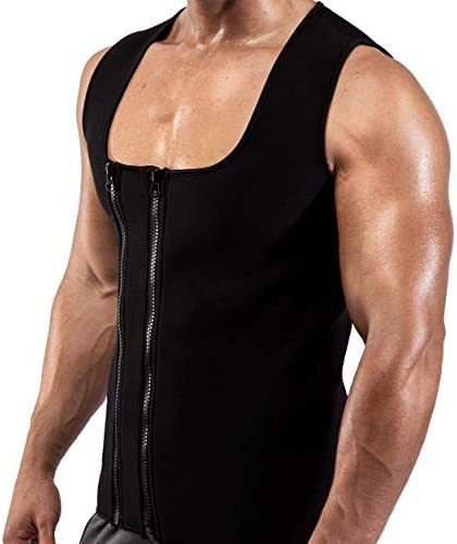 Goldenstarsport Sweat Vest for Men, Adjustable Sauna Vest for Men with Double Zipper, Workout Vest for Men, Mens Sauna Waist Trainer, Neoprene Vest Men 8
