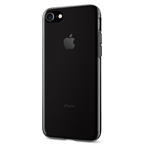 Spigen Liquid Crystal iPhone 7 Case with Jet Black Optimized Color and Premium Semi-transparent Protection for iPhone 7 2016 - Space Crystal (Jet Liquid Protection)