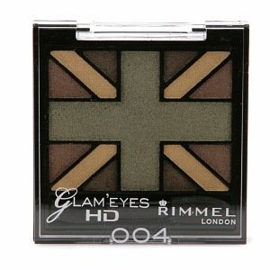 Rimmel Glam' Eyes HD Quad Eye Shadow Palette, 004 Green Park