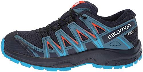 Salomon Kids XA Pro 3D CSWP J, Trail Running Shoe, navy blazer / mallard blue / hawaiian surf ,  Child 6