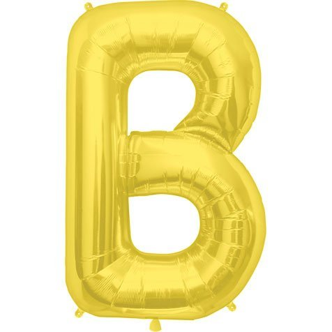 Gold Gold Gold Letter B 34 Inch Foil Balloon by Northstar Balloons 676838