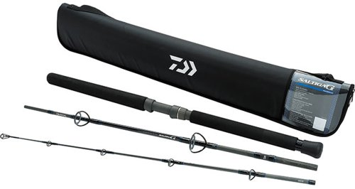 Daiwa SAG703MRS-TR Saltiga G Boat Rod Spinning Travel Rod (3 Piece), 7'0