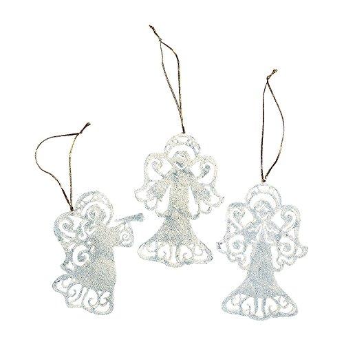 Silhouette Angel Christmas Ornaments 1 Dozen
