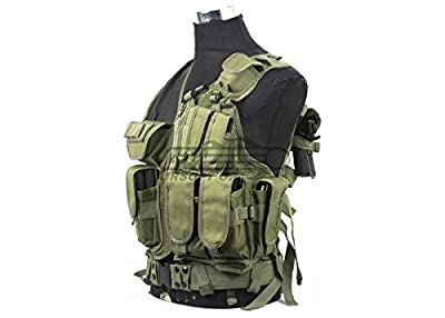 DEFCON 600 Denier Tactical Crossdraw Vest (OD)