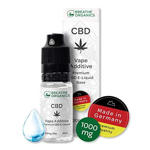 Premium CBD Liquid Base von Breathe Organics® | Liquid Base für E-Zigaretten 1000 mg CBD aus Deutschland | 1000 mg…