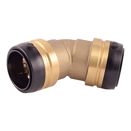 Sport 45 Degree Elbow - SharkBite 1-1/2 x 1-1/2-Inch 45-Degree Elbow, Push-to-Connect, PEX, Copper, CPVC, PE-RT, HDPE