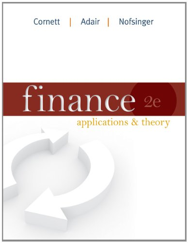Finance: Applications and Theory (Mcgraw-hill/Irwin Series in Finance, Insurance and Real Estate) by Brand: McGraw-Hill/Irwin