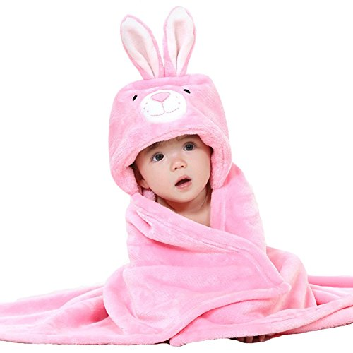 Bathing Towels Wrap Blanket Ultra-soft Flannel Ponchos Rabbit ()