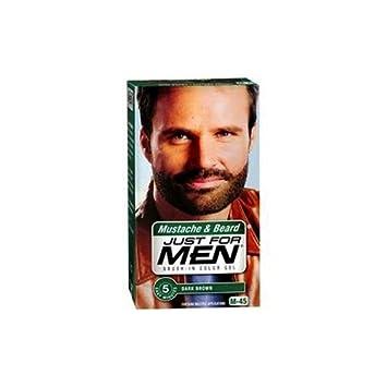 Amazon.com : Just For Men Brush-In Color Mustache & Beard - Dark ...
