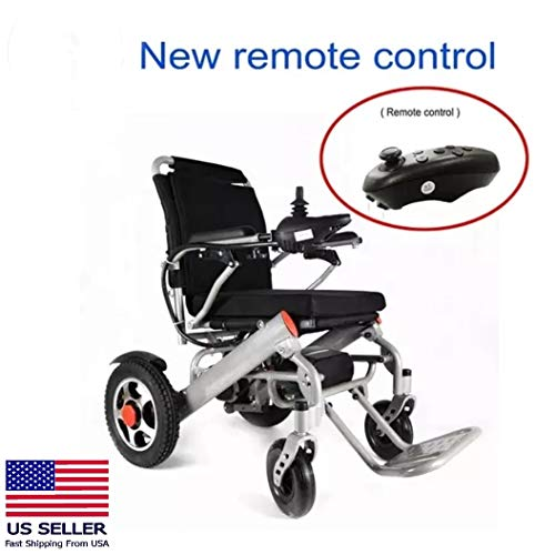 Deluxe Foldable Power Compact Mobility Aid Wheel Chair, Lightweight Fo