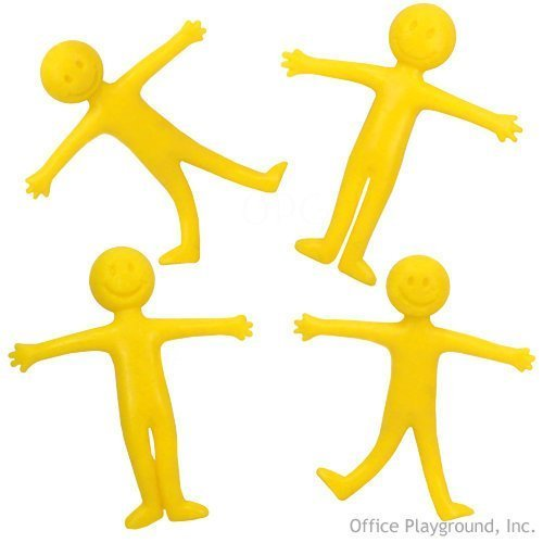 Yellow 2.25 Everready First Aid UST7758 1 Dozen US Toy Smiley Face Theme Stretchy Action Figures 2.25