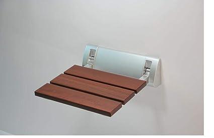 Sedile Doccia Legno : Sedile per doccia ribaltabile murale montaggio kg legno