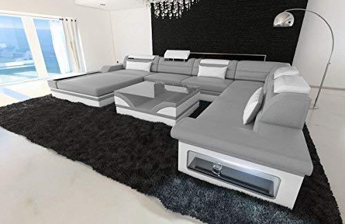 Sofa Dreams Xxl Wohnlandschaft Mezzo Grau Weiss Amazon De Kuche