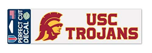 (NCAA USC University of Southern California Trojans 3 x 10 inch Perfect Cut Decal)