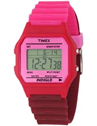 Timex Womens T2N2099J Fashion Digitals Premium Pink Watch