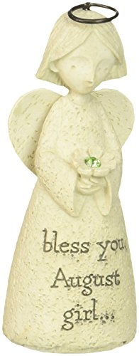 ENESCO Bless You August Mini Birthday Angel Figurine, 3.25""