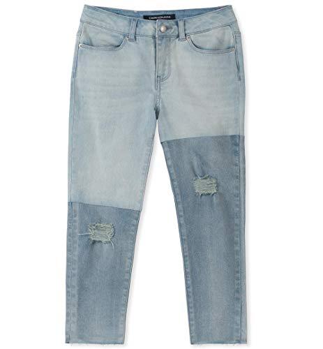 Calvin Klein Big Girls' Fashion Denim Jeans, Color Block Horizon, - Block Horizon