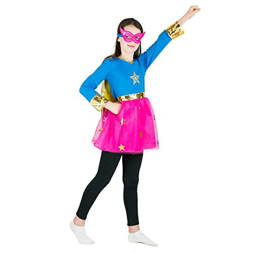 Bodysocks Girls Superhero Fancy Dress Costume (6-8 -