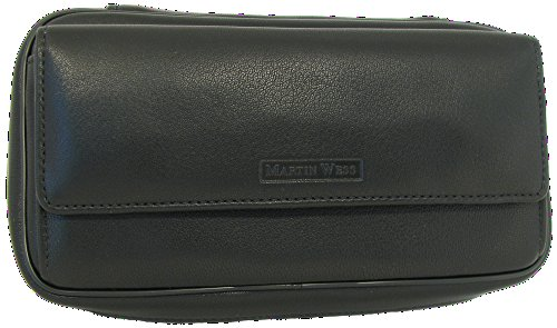 Martin Wess Germany ''Lea'' Soft Lamb Nappa Leather 3 Pipe Bag Case by Martin Wess