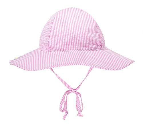 Clothes Happy Flap - BELLEBEAUTIE Baby Floppy Wide Brim Sun Hat Kids Breathable Cotton Seersucker UPF 50+ Sun Protect Hat(10 Colors)