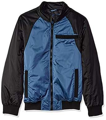Urban Republic Men's Heavy Poly Satin Jacket, Black, S