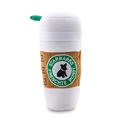Haute Diggity Dog Squeaky Toys - Starbarks Collection (Starbarks Coffee with Lid, X-Large)