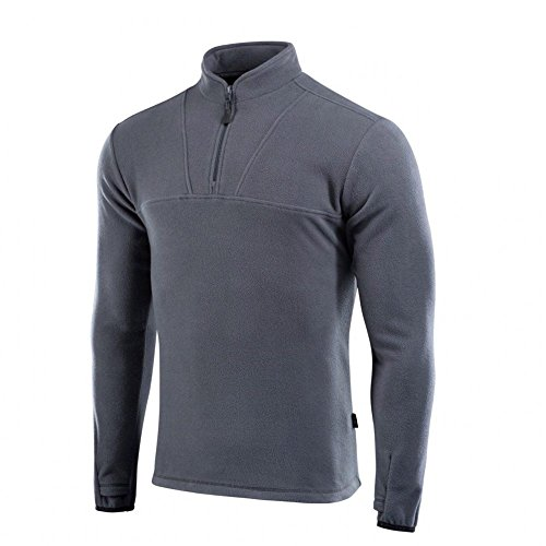 Delta Fleece Mens Top Thermal Underwear for Men Fleece Lined Compression Shirt (Dark Grey, L) (Best Thermal Cycling Tops)