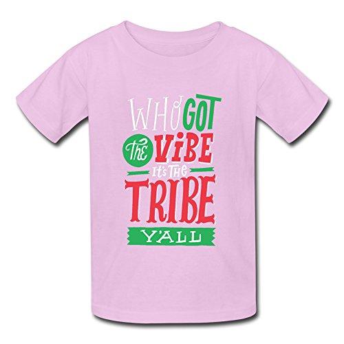 Kazzar Kid's Tribe Called Quest Logo Round Collar T Shirt L