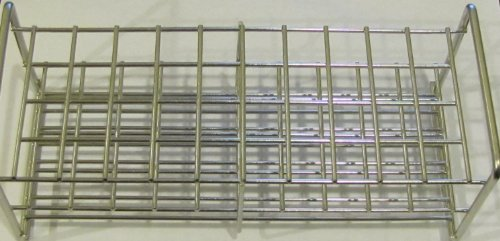 Stainless Steel Wire Wireframe Test Tube Rack, 40 Tubes 15mm