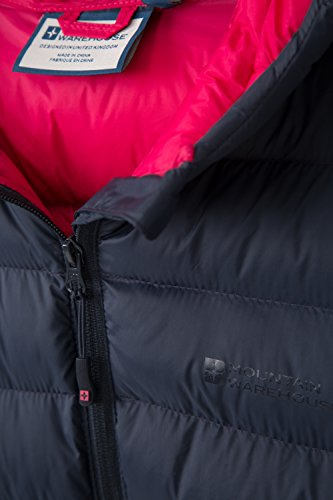 Abrigo Y Mujer Puños Para Acolchada Delanteros Chaqueta Bolsillos Marino Al Mujer Mountain Resistente Agua Ajustables Azul Warehouse Seasons Capucha vqgYY6