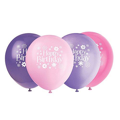 Latex Blossom Birthday Balloons 8ct