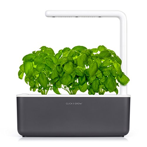 Click & Grow Smart Garden 3 | Indoor Fresh Herb Growing Kit With 3 Basil Cartridges | Self Watering Planter & Patented Nano-Tech Growth Medium | Soil Full Of Nutrients, Proper Aeration, pH & Moisture by Click and Grow