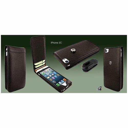 Piel Frama U637M Classic Magnetic Ledertasche für Apple iPhone 5C braun